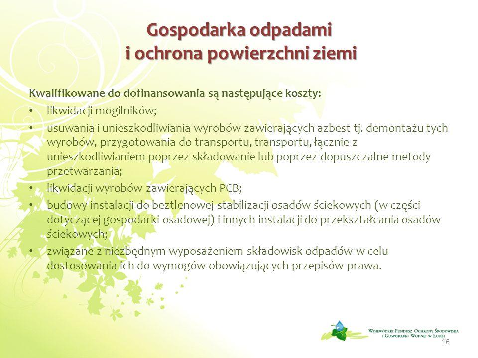 Gospodarka odpadami i ochrona powierzchni ziemi