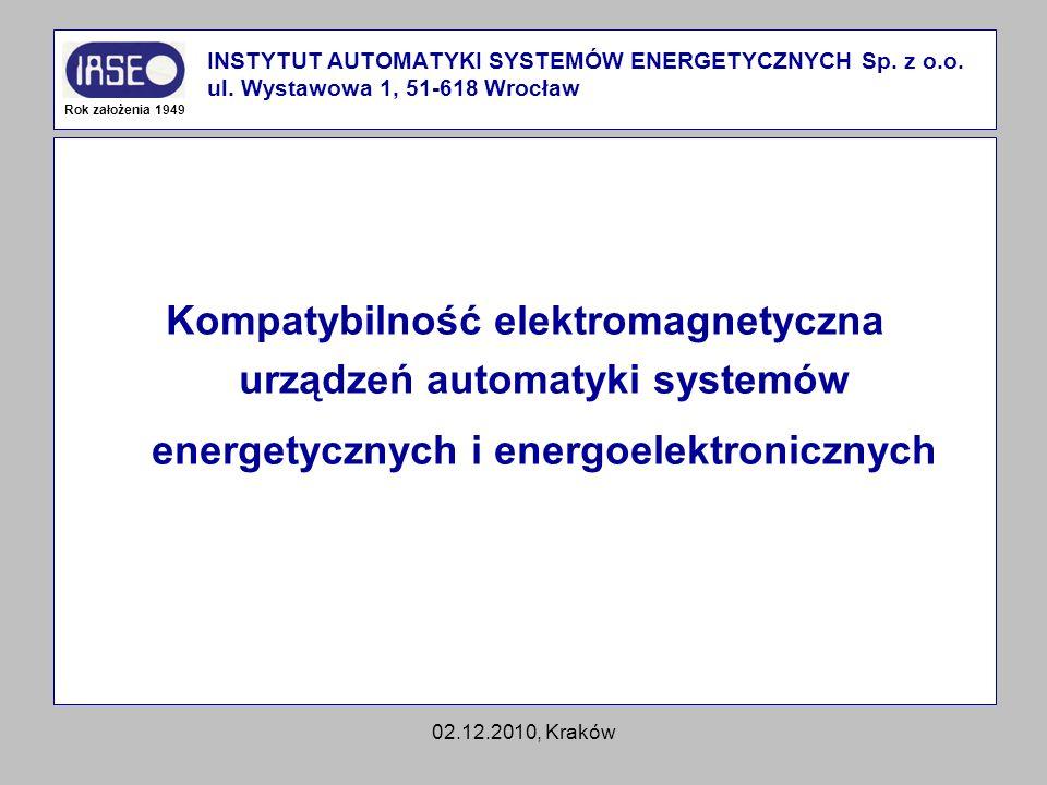 INSTYTUT AUTOMATYKI SYSTEMÓW ENERGETYCZNYCH Sp. z o. o. ul