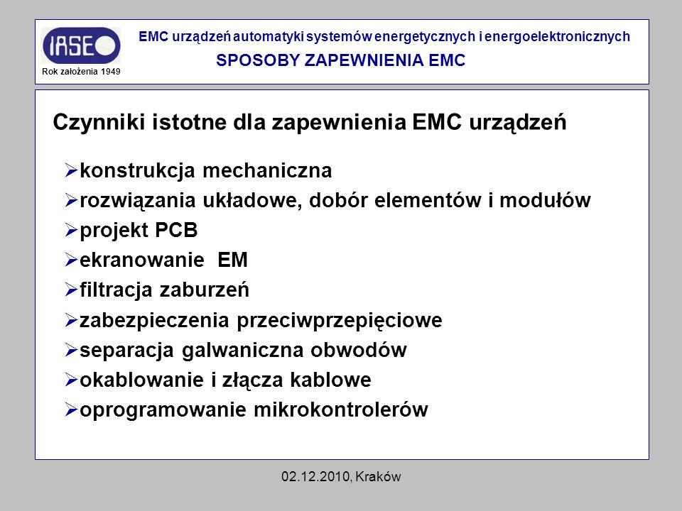 SPOSOBY ZAPEWNIENIA EMC