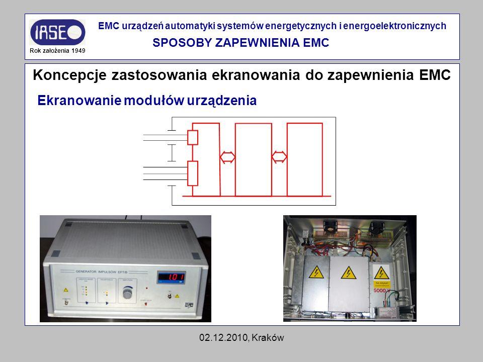 Koncepcje zastosowania ekranowania do zapewnienia EMC