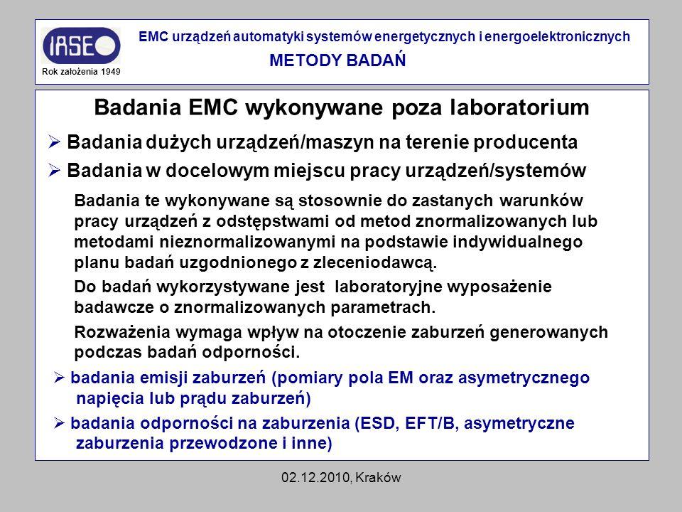 Badania EMC wykonywane poza laboratorium