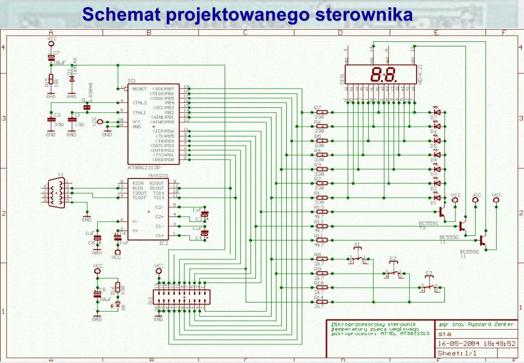 Schemat projektowanego sterownika