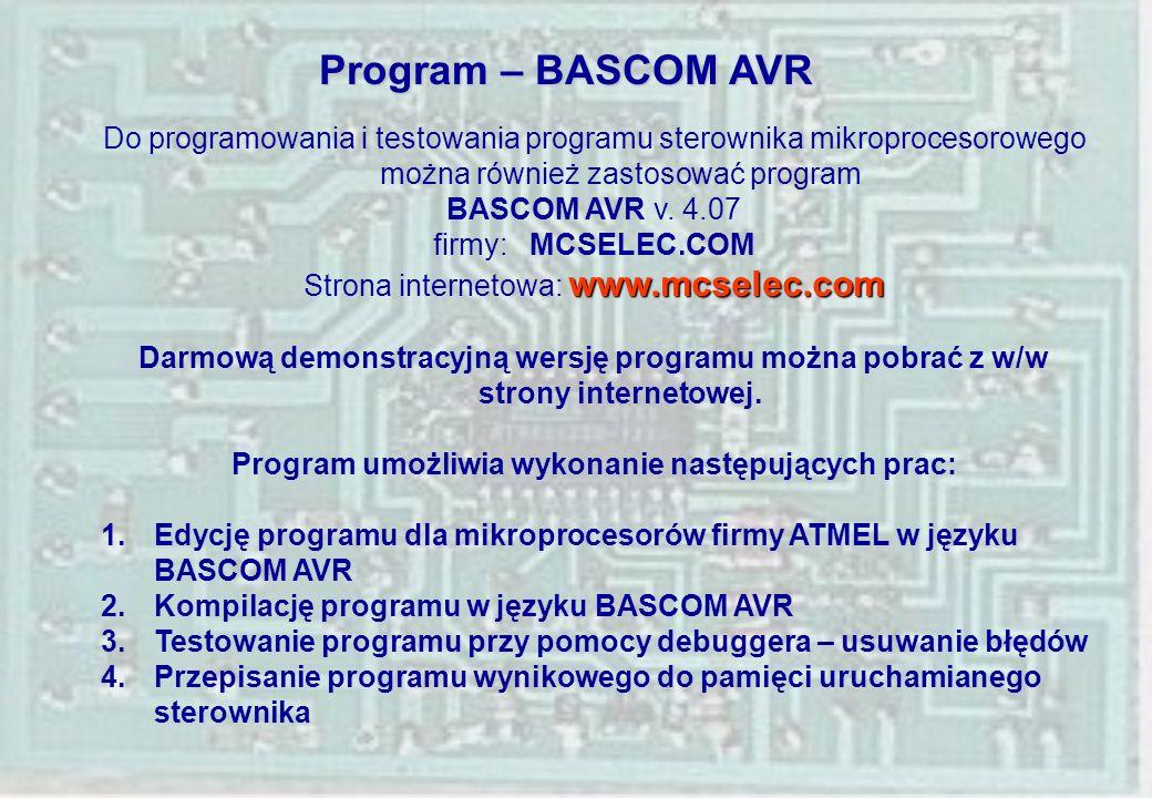 Program umożliwia wykonanie następujących prac: