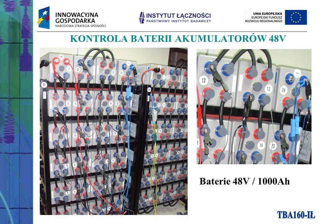 KONTROLA BATERII AKUMULATORÓW 48V