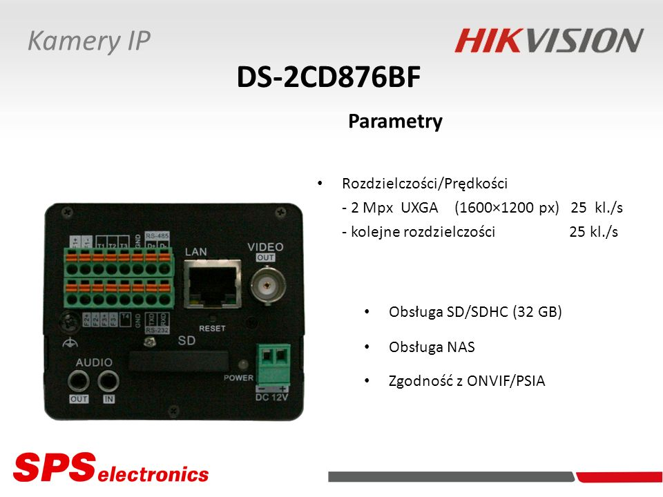 DS-2CD876BF Parametry Kamery IP Rozdzielczości/Prędkości