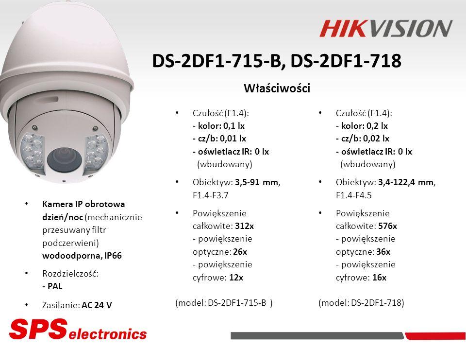 DS-2DF1-715-B, DS-2DF1-718 Właściwości