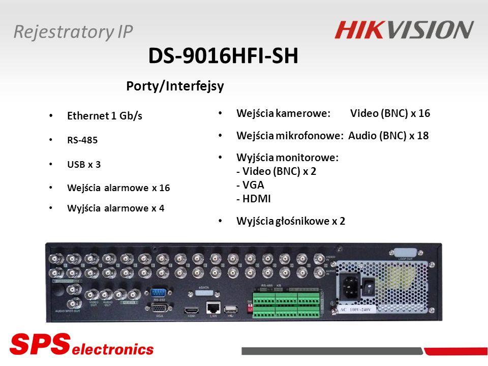 DS-9016HFI-SH Porty/Interfejsy