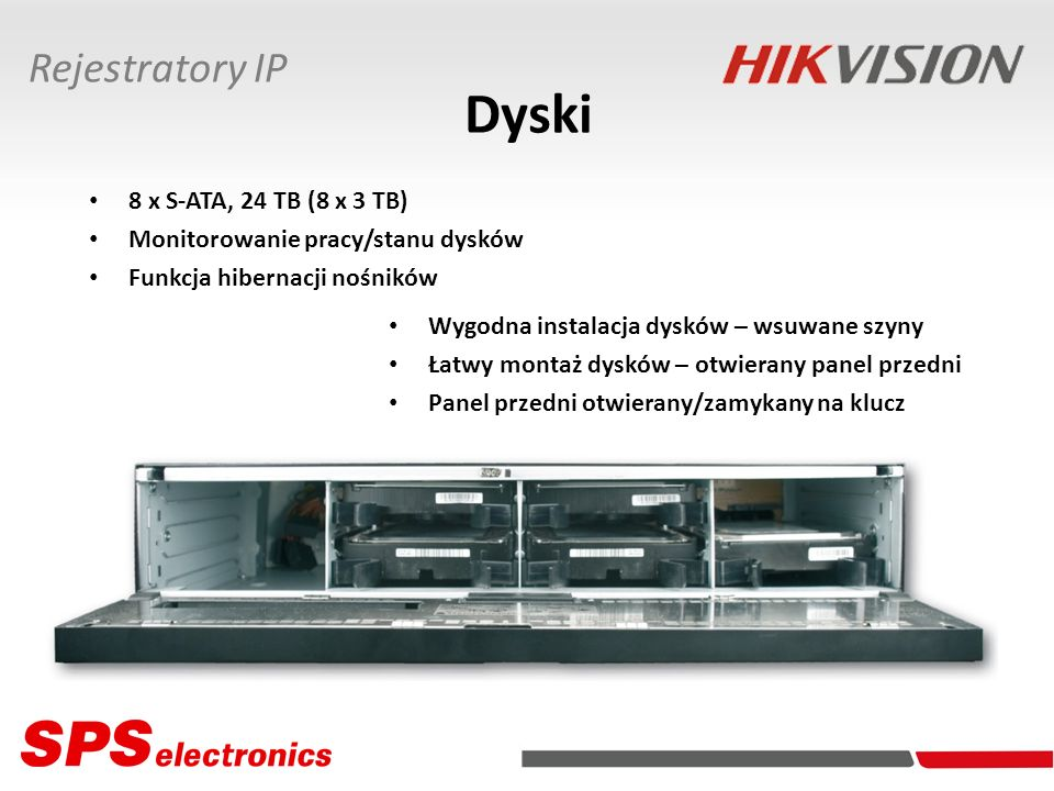 Dyski Rejestratory IP 8 x S-ATA, 24 TB (8 x 3 TB)