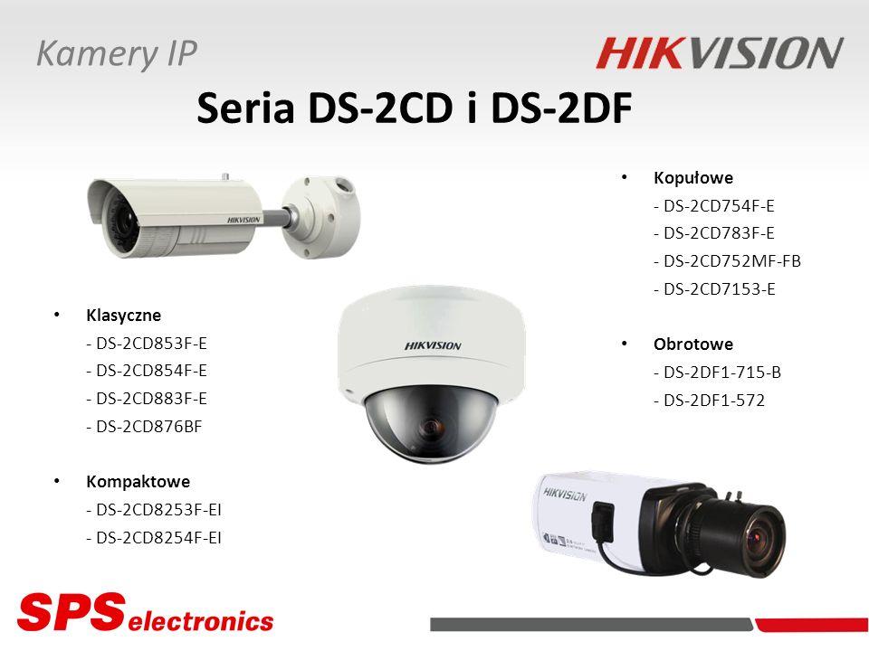 Seria DS-2CD i DS-2DF Kamery IP Kopułowe - DS-2CD754F-E - DS-2CD783F-E