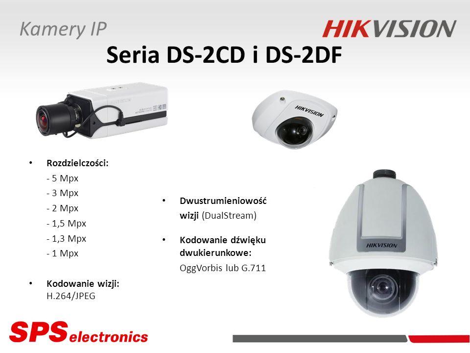 Seria DS-2CD i DS-2DF Kamery IP Rozdzielczości: - 5 Mpx - 3 Mpx