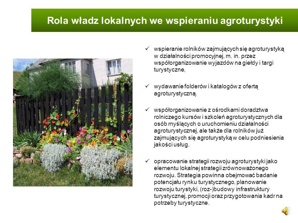 Rola władz lokalnych we wspieraniu agroturystyki