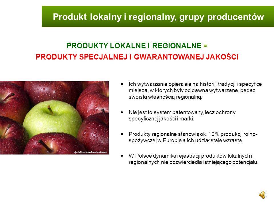 Produkt lokalny i regionalny, grupy producentów