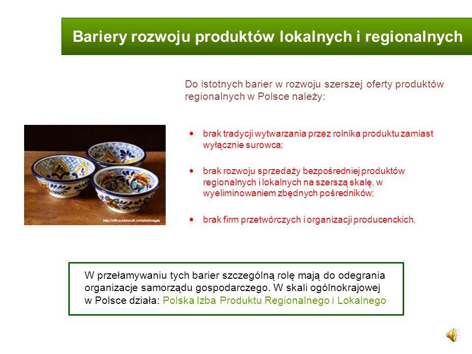 Bariery rozwoju produktów lokalnych i regionalnych