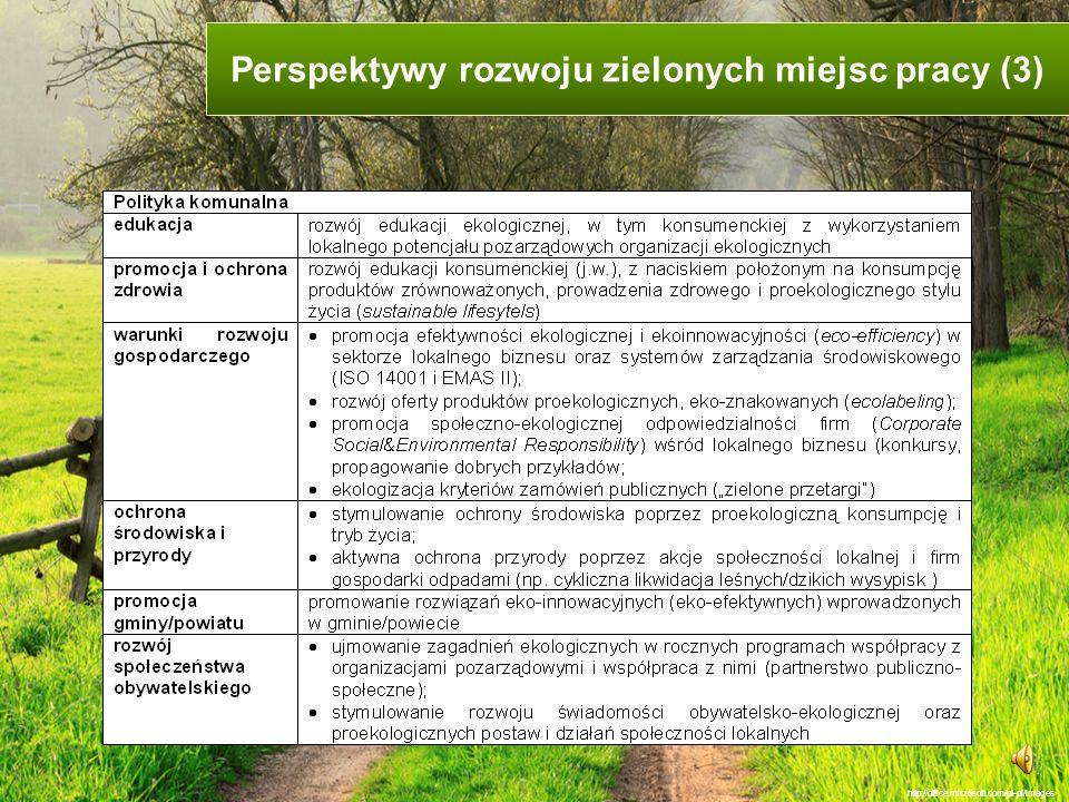 Perspektywy rozwoju zielonych miejsc pracy (3)