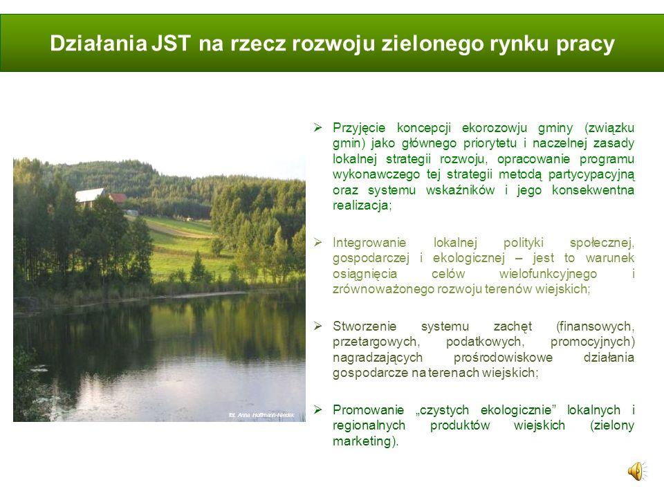 Działania JST na rzecz rozwoju zielonego rynku pracy