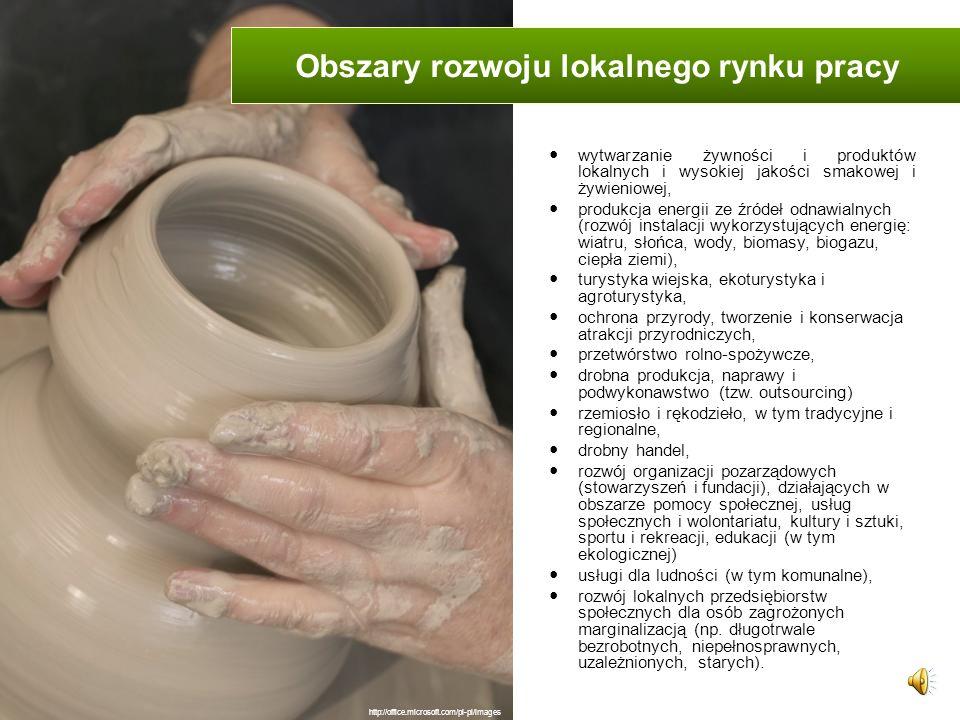Obszary rozwoju lokalnego rynku pracy