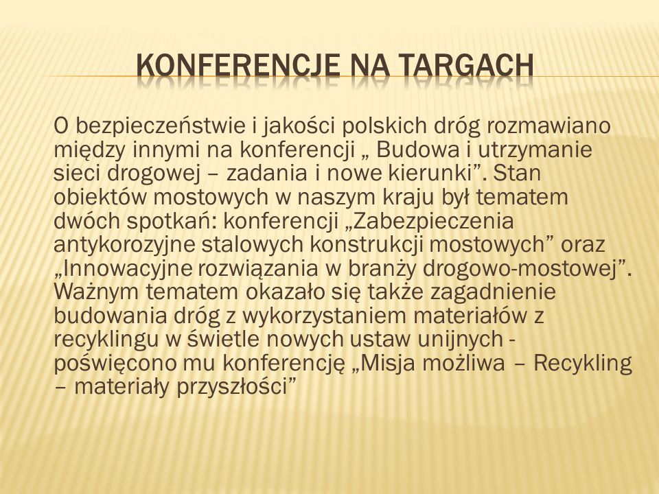 Konferencje na targach