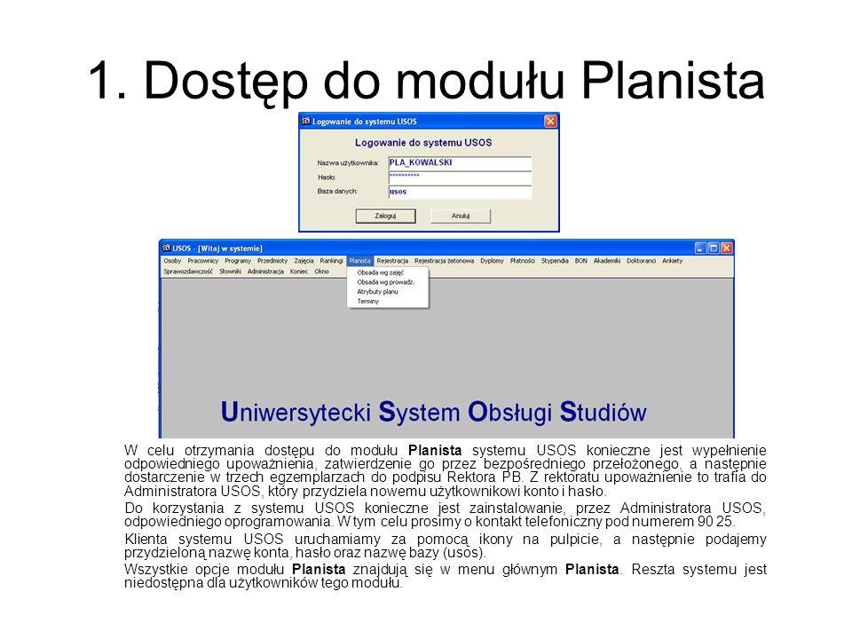 1. Dostęp do modułu Planista