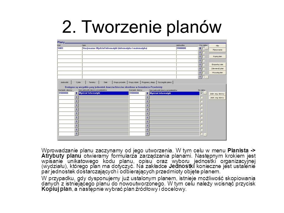2. Tworzenie planów