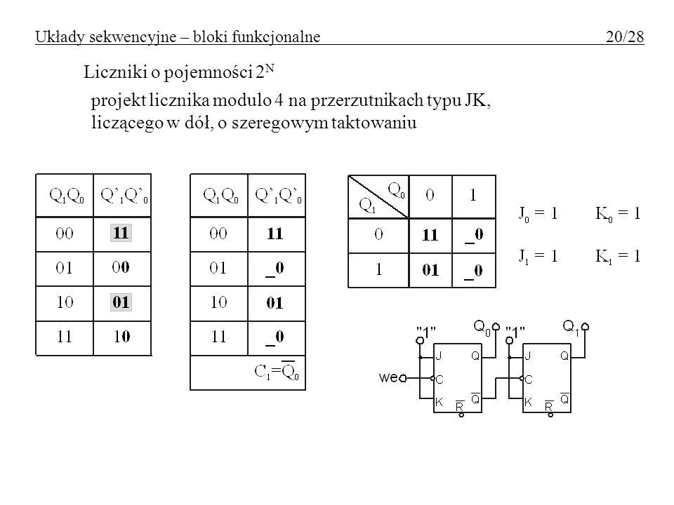 Układy sekwencyjne – bloki funkcjonalne 20/28