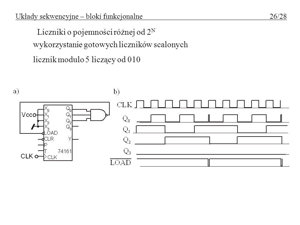 Układy sekwencyjne – bloki funkcjonalne 26/28