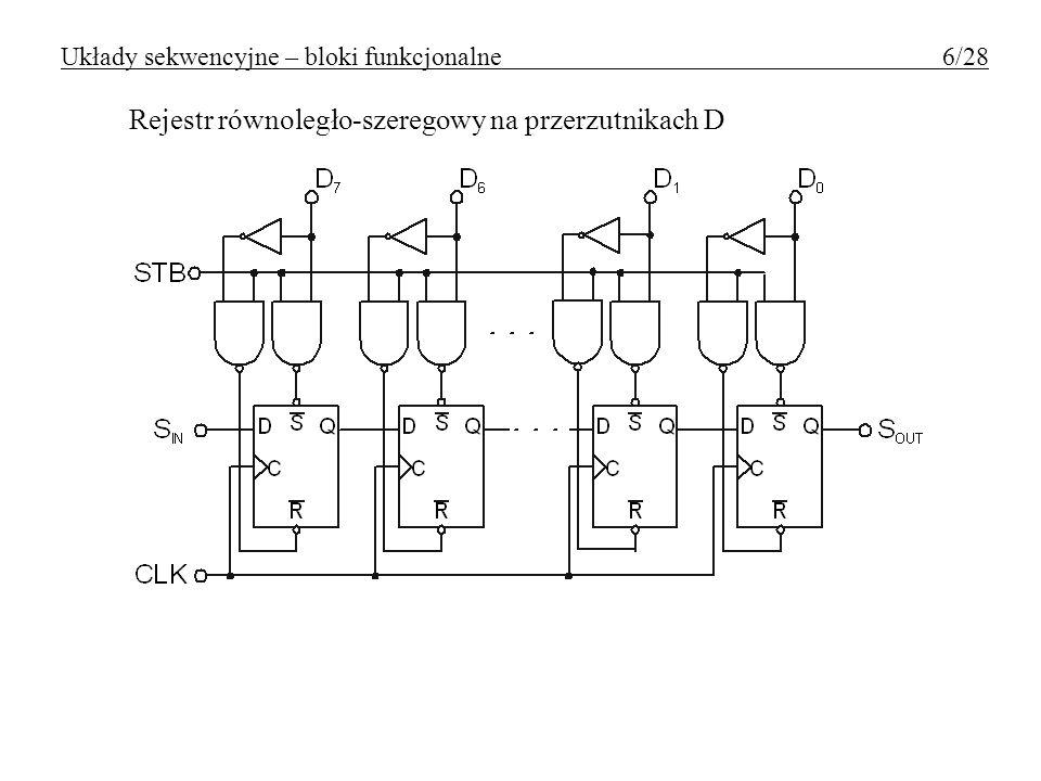 Układy sekwencyjne – bloki funkcjonalne 6/28