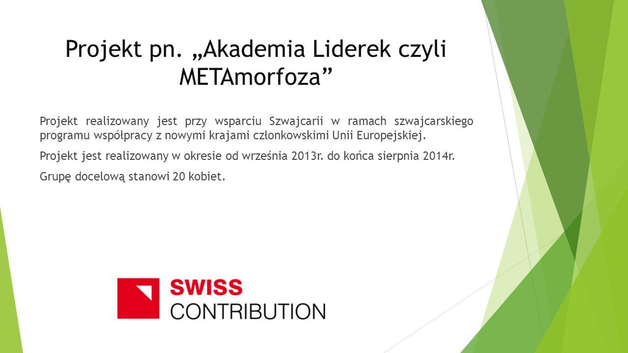 """Projekt pn. """"Akademia Liderek czyli METAmorfoza"""