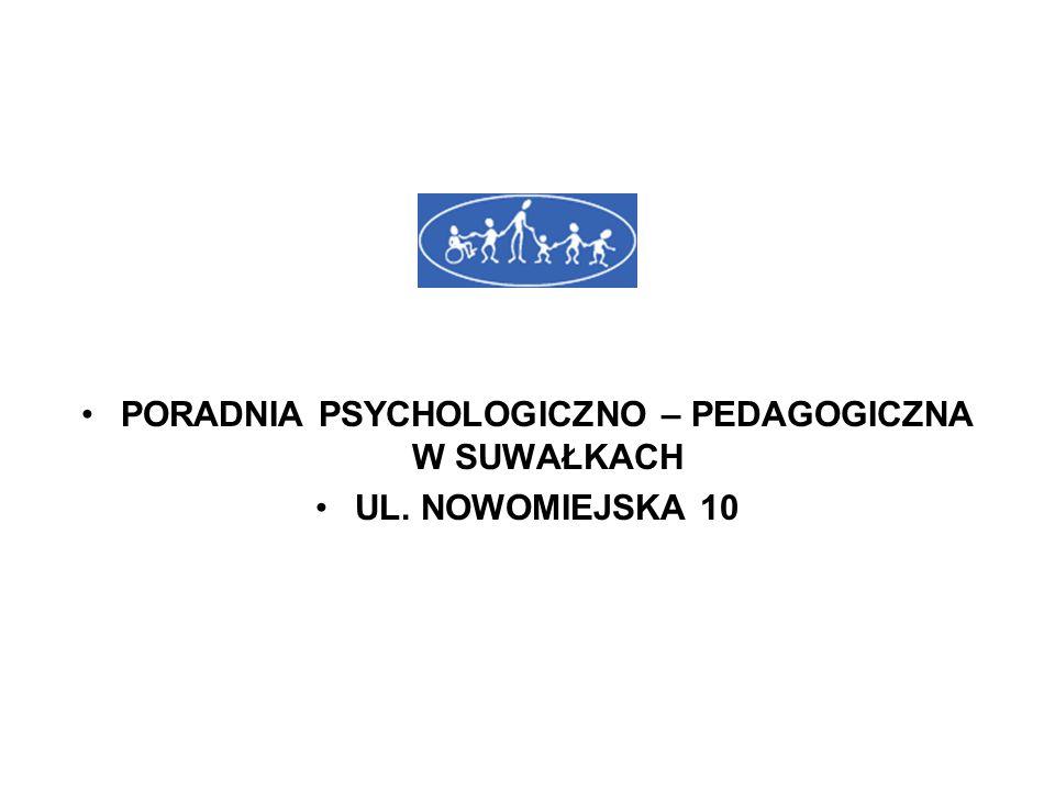 PORADNIA PSYCHOLOGICZNO – PEDAGOGICZNA W SUWAŁKACH