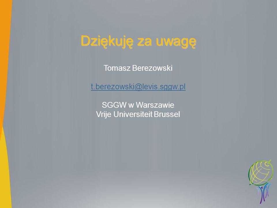 SGGW w Warszawie Vrije Universiteit Brussel