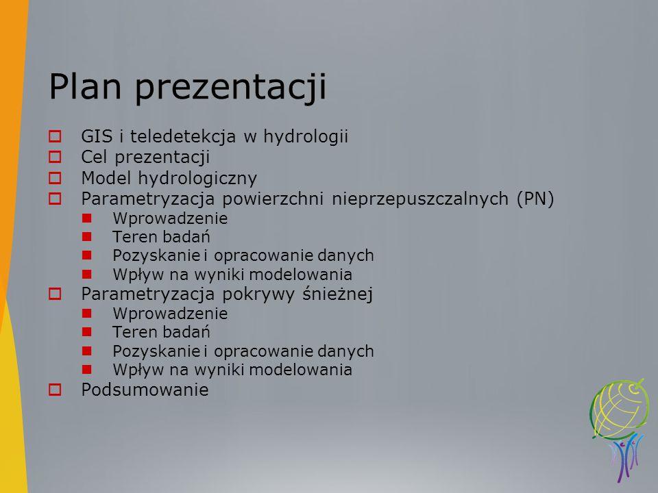 Plan prezentacji GIS i teledetekcja w hydrologii Cel prezentacji