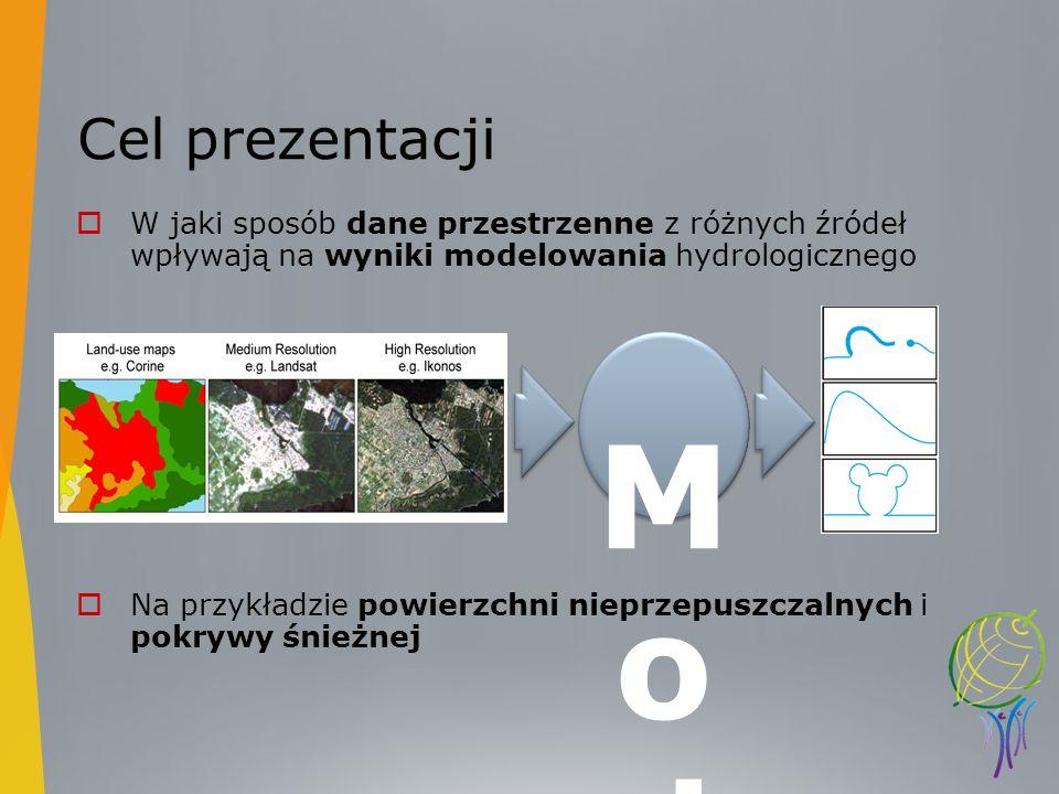 Cel prezentacji W jaki sposób dane przestrzenne z różnych źródeł wpływają na wyniki modelowania hydrologicznego.