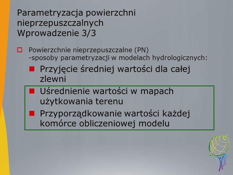 Parametryzacja powierzchni nieprzepuszczalnych Wprowadzenie 3/3