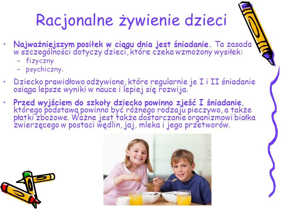 Racjonalne żywienie dzieci