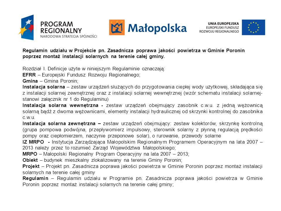 Regulamin udziału w Projekcie pn
