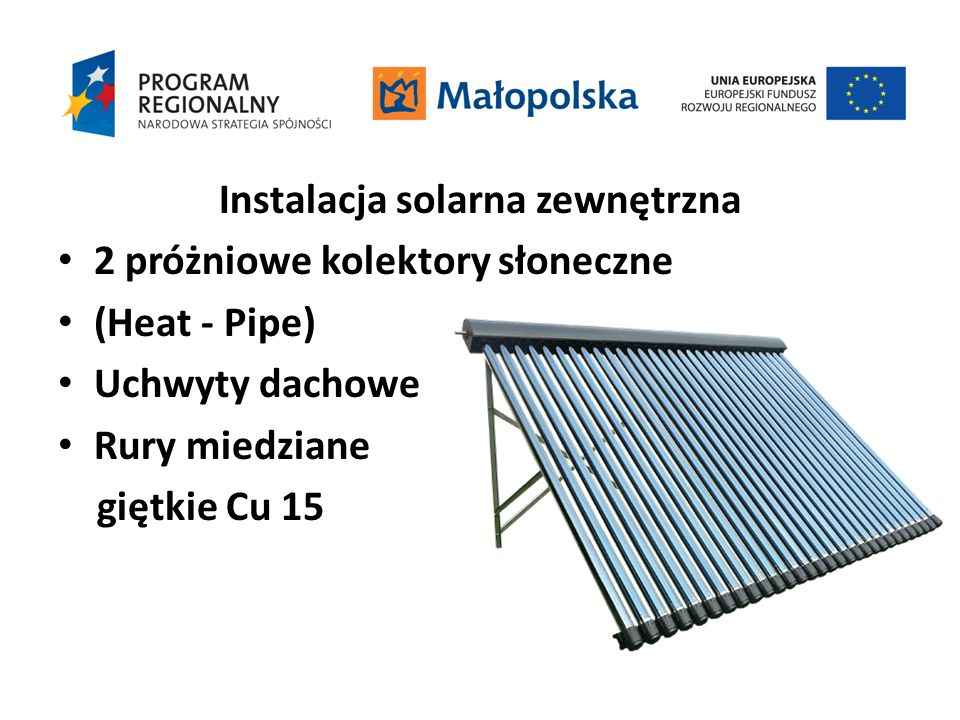 Instalacja solarna zewnętrzna