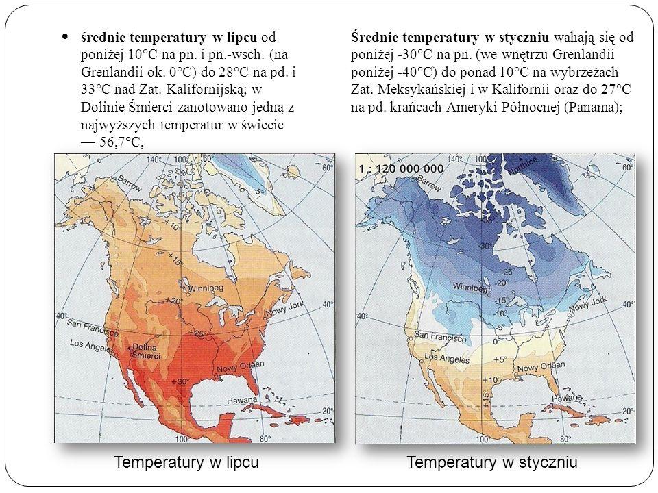 Temperatury w styczniu