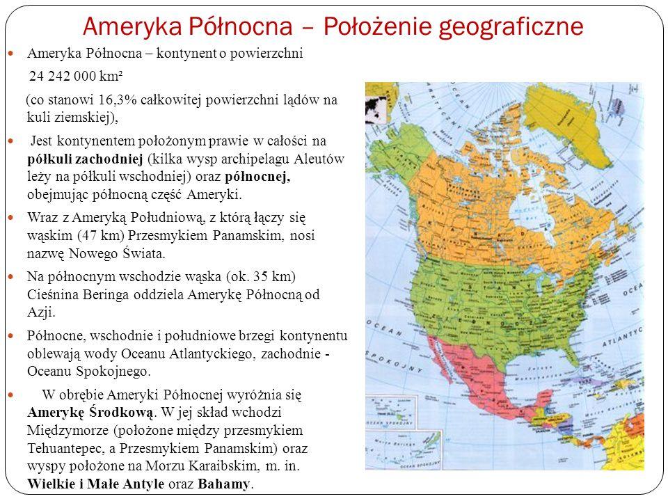 Ameryka Północna – Położenie geograficzne