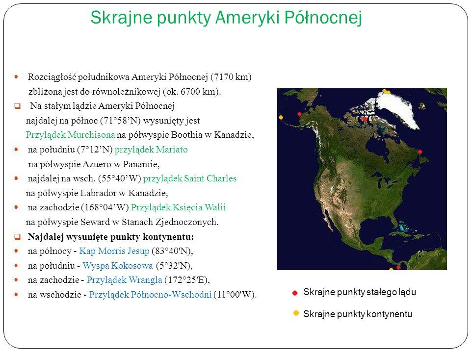 Skrajne punkty Ameryki Północnej