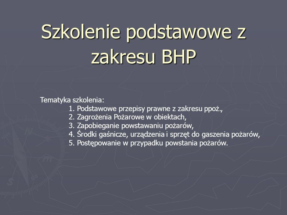 Szkolenie podstawowe z zakresu BHP