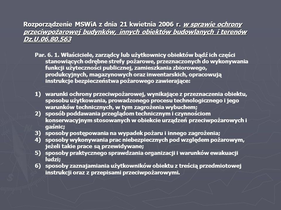 Rozporządzenie MSWiA z dnia 21 kwietnia 2006 r