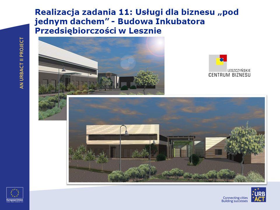 """Realizacja zadania 11: Usługi dla biznesu """"pod jednym dachem - Budowa Inkubatora Przedsiębiorczości w Lesznie"""