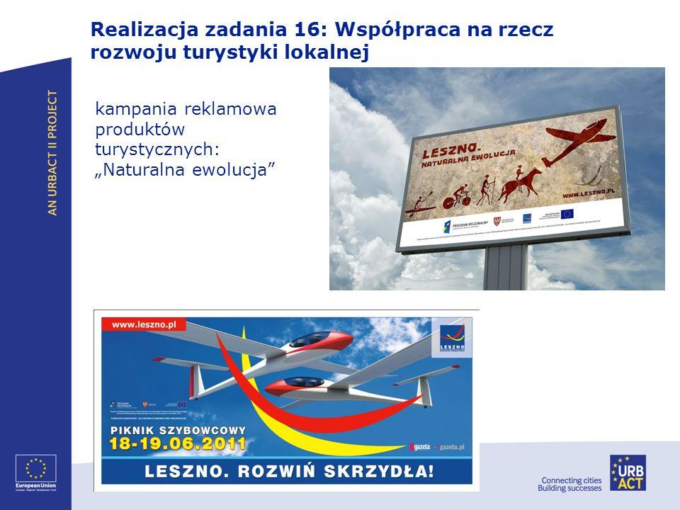 Realizacja zadania 16: Współpraca na rzecz rozwoju turystyki lokalnej