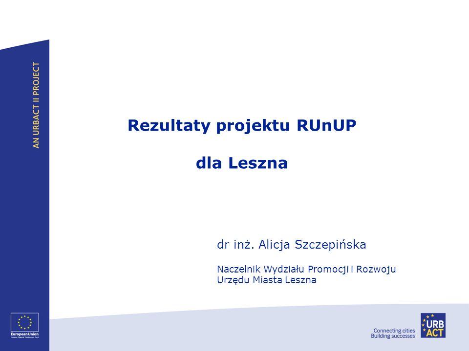 Rezultaty projektu RUnUP