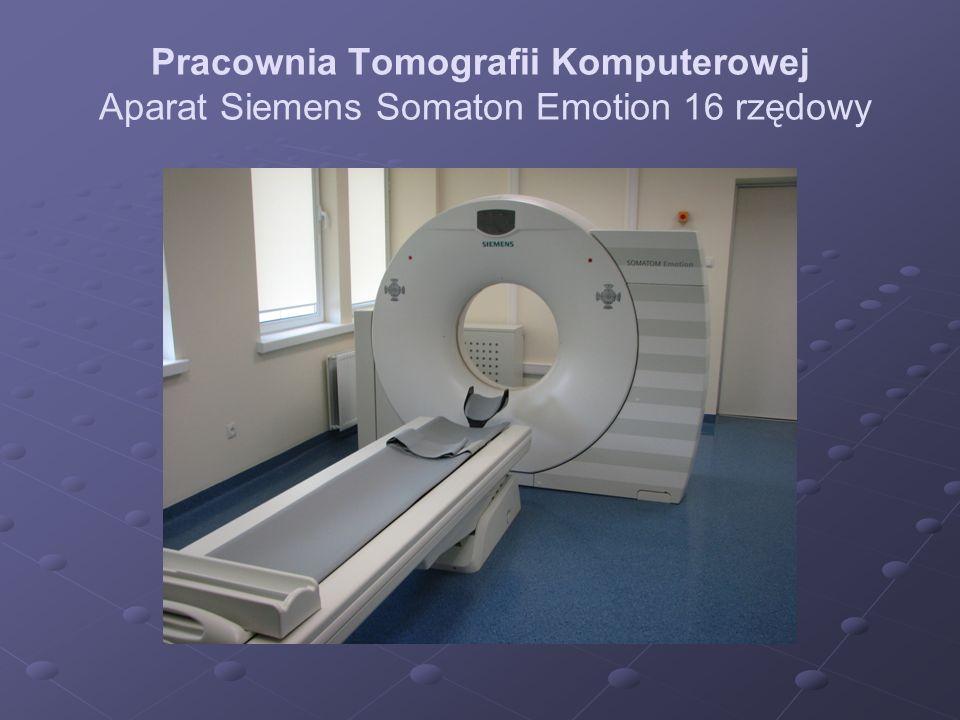 Pracownia Tomografii Komputerowej Aparat Siemens Somaton Emotion 16 rzędowy