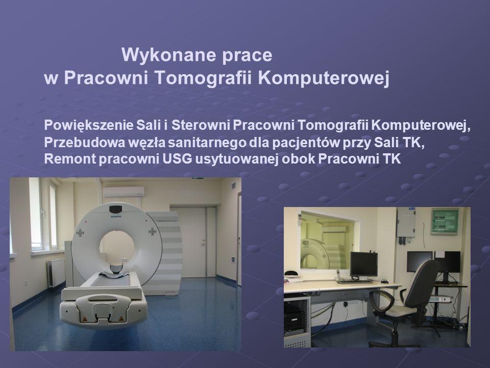 Wykonane prace. w Pracowni Tomografii Komputerowej