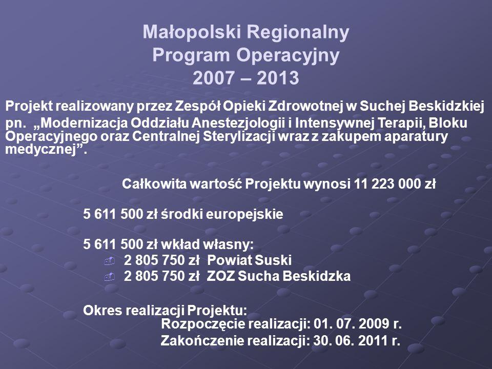Małopolski Regionalny Program Operacyjny 2007 – 2013