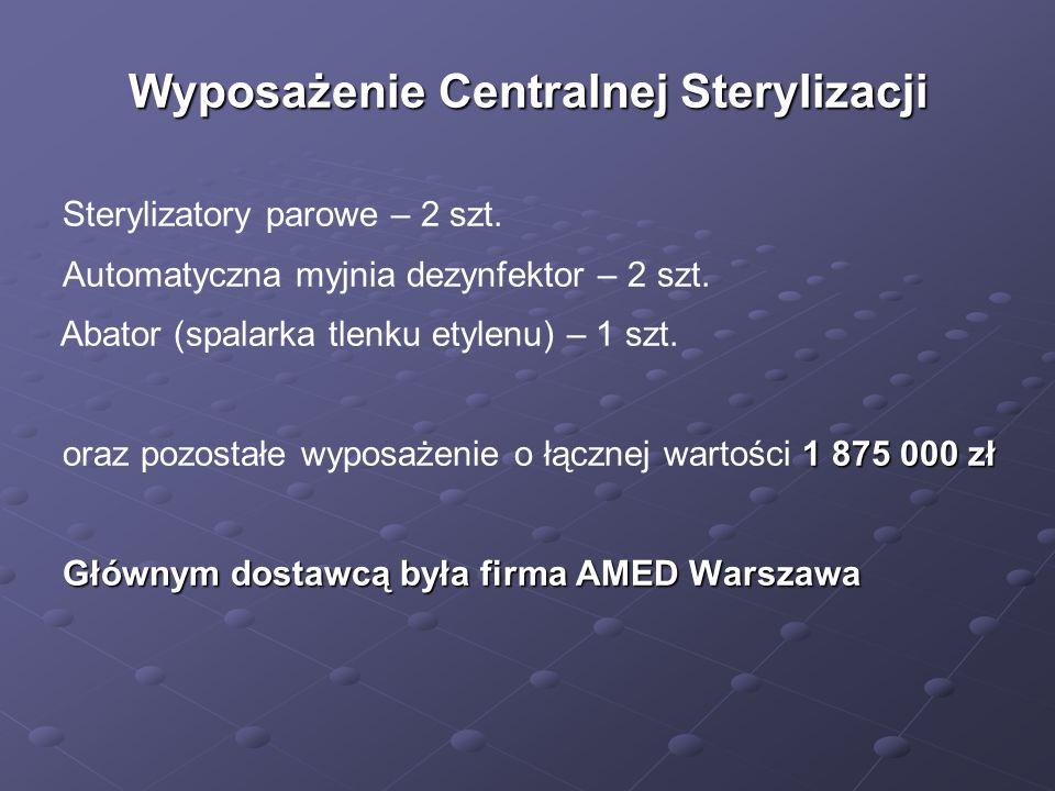Wyposażenie Centralnej Sterylizacji
