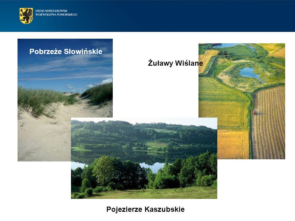 Pobrzeże Słowińskie Żuławy Wiślane Pojezierze Kaszubskie