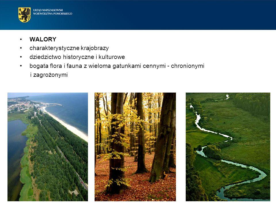 WALORY charakterystyczne krajobrazy. dziedzictwo historyczne i kulturowe. bogata flora i fauna z wieloma gatunkami cennymi - chronionymi.
