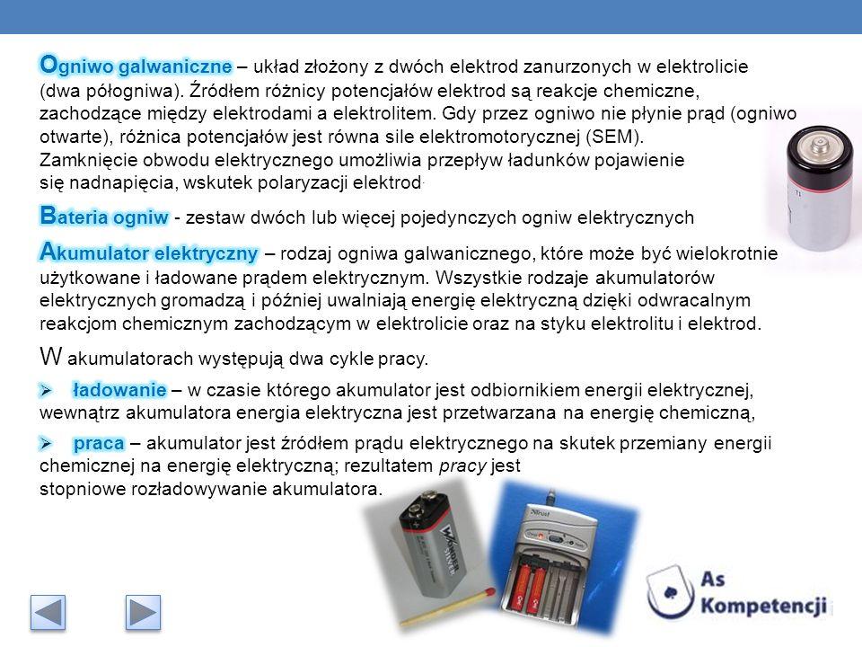 W akumulatorach występują dwa cykle pracy.